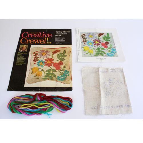 Buy erica wilson crewel kit flower pincushion embroidery