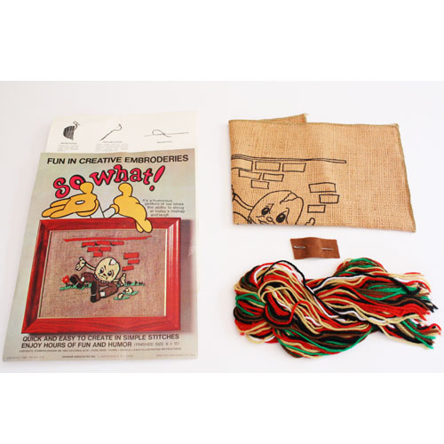 Buy humpty dumpty embroidery so what crewel kit