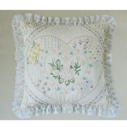 Candamar Designs Candlewicking Heart Pillow Kit #80137, ca. 1983