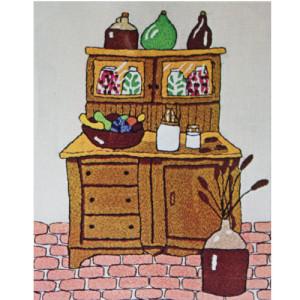 Stitchery Kit Vintage Vogart Crafts Country Pantry Crewel Embroidery #2615