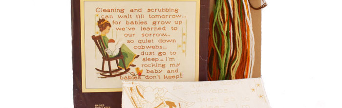 Babies Don't Keep Crewel Kit