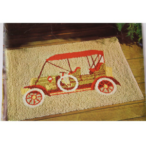 Punch Needle Rug Pattern ~ Antique Car