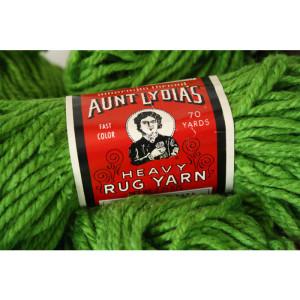 Aunt Lydia's Heavy Rug Yarn Grass Green