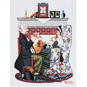 Dimensions Norman Rockwell Crewel Kit Tea For Two