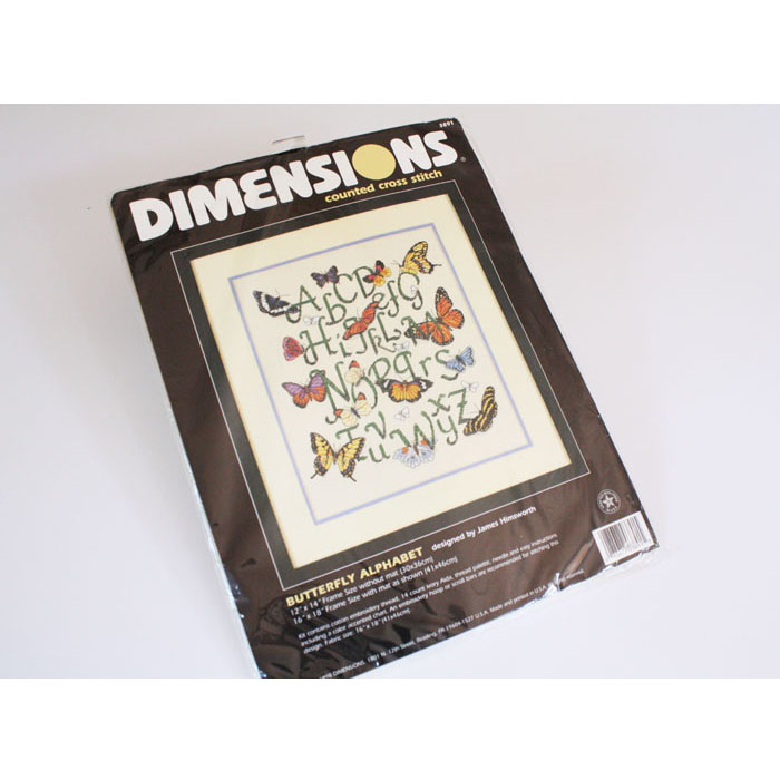 Dimensions Cross Stitch Kit #3891 Butterfly Alphabet