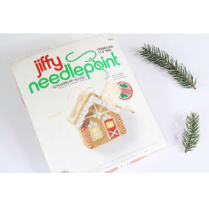 Needlepoint Christmas Ornament Kit #5052 Gingerbread House