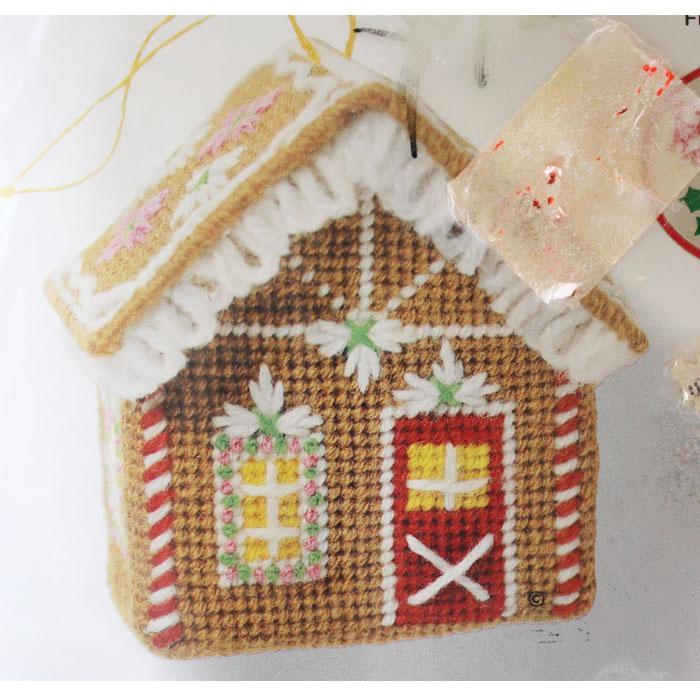 Needlepoint Christmas Ornament Kit #5052 Gingerbread House