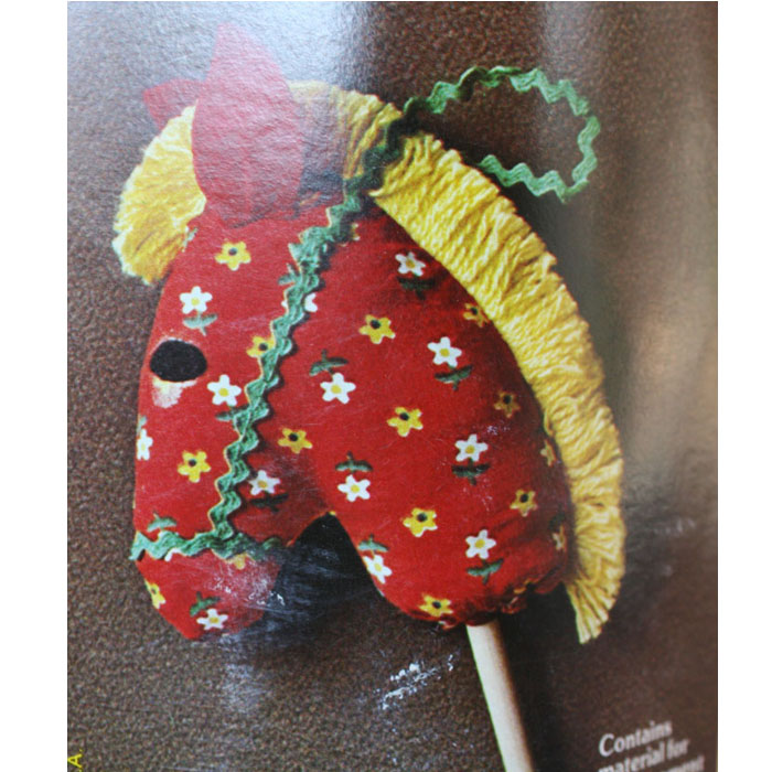 Christmas ornament craft kit hobby horse pattern orange for Country christmas craft show