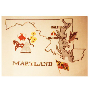 Maryland Counted Cross Stitch Chart Pattern