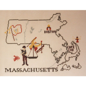 Massachusetts Counted Cross Stitch Chart Pattern