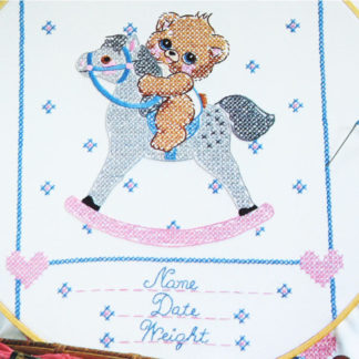 Birth Record Embroidery Pattern #8758G Baby Sampler