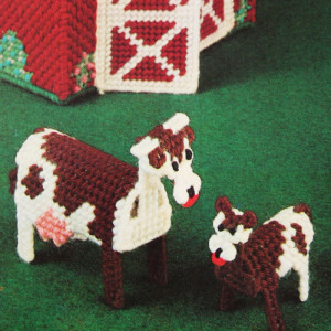 Plastic Canvas Cow Needlepoint Kit #4344 Bucilla