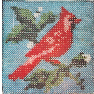 Bead Embroidery Cardinal Picture Needlepoint Kit #1505