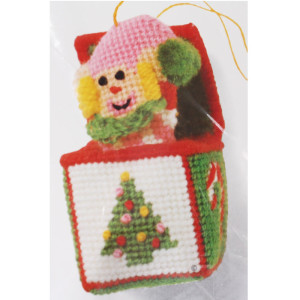 Jiffy Needlepoint Ornament Kit Jack in the Box #5077