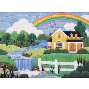 Longstitch Needlepoint Kit The Creative Circle Summer Rainbow