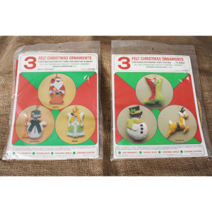 Felt Christmas Ornament Kits # FS1002 & FS-1004