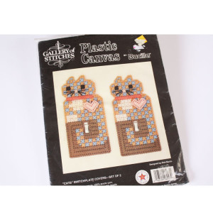 Plastic Canvas Light Switch Covers Kit #6947 Cats
