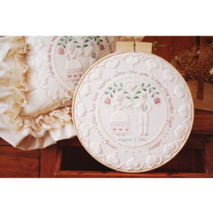 Wedding Embroidery Kit #2873 Folk Art Wedding Ring