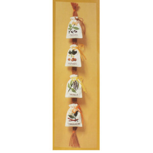 Spice Sack Crewel Kit #1925 Kitchen Spice Sacks