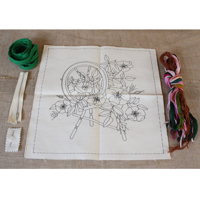 Crewel Pillow Kit Vintage Hand Embroidery Patterns