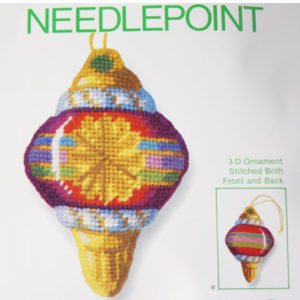 Jiffy Needlepoint Ornament Kit Old Fashioned Ornament #5060