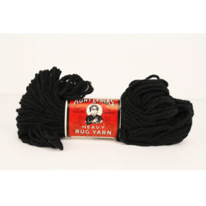 Aunt Lydia's Black Heavy Rug Yarn