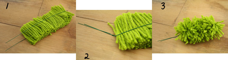 Rug Yarn Tree Tutorial Steps 1 - 3