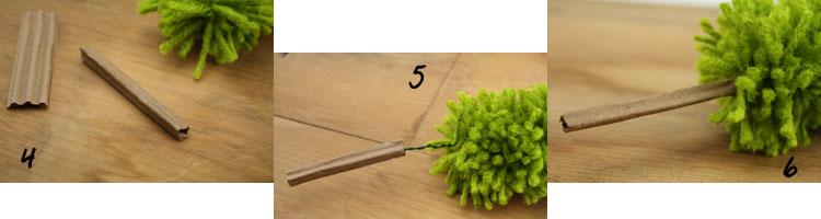 Rug Yarn Tree Tutorial Steps 4 - 6