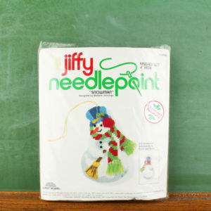 "Sunset Designs Jiffy Needlepoint Ornament Kit #5010 ""Snowman"" (1978)"
