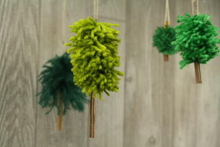 Yarn Tree Ornaments