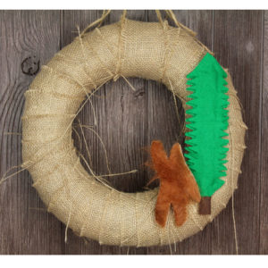 "12"" Primitive Bigfoot Wreath"