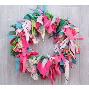 "15"" Spring Rag Wreath"
