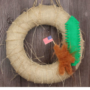 "12"" Primitive 4th of July Bigfoot Wreath"