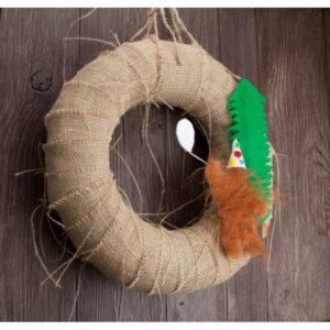 "12"" Bigfoot Party Animal Wreath"