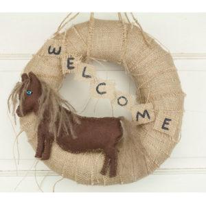 "12"" Miniature Donkey Wreath"