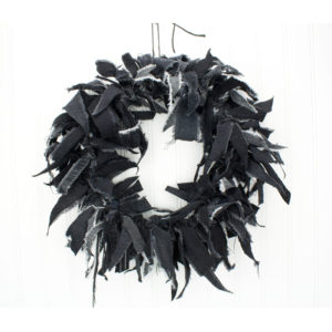 Black Rag Wreath