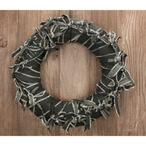 Black Jean Knot Wreath