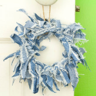 Blue Jean Mini Rag Wreath
