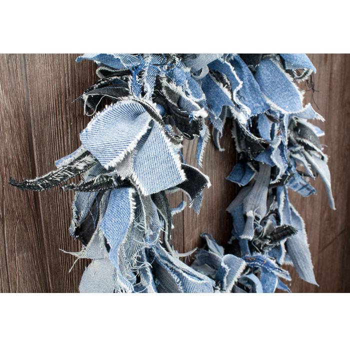Denim Rag Wreath 15 Quot Recycled Jeans Wreath