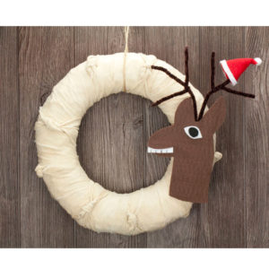 "12"" Reindeer Wreath"
