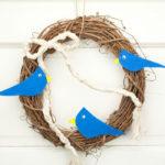 "12"" Grapevine Wreath with Bluebirds"